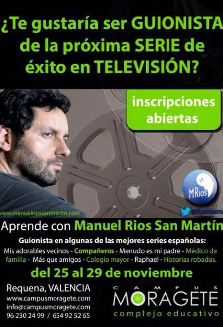 CURSO EN VALENCIA CON EL GUIONISTA DE LAS MEJORES SERIES DE TV ESPAÑOLA